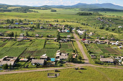 Wiejski krajobraz z ptaka oka widokiem Obrazy Royalty Free