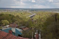 Wiejski krajobrazowy dachu mosta transport Zdjęcie Royalty Free
