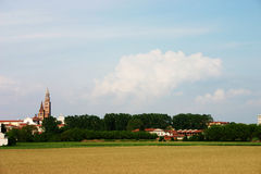 wiejski miasteczko Zdjęcia Stock