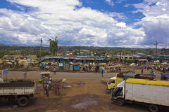 Wiejski miasteczko w Afryka Obrazy Stock