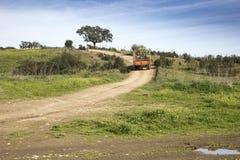 Wiejski miejsce i wiejska droga Obraz Stock