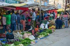 Wiejski rynek w Leh miasteczku, Północny India zdjęcie royalty free