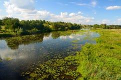 Wiejski rzeka krajobraz Fotografia Royalty Free