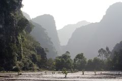 Wiejski teren w Ninh Binh mieście, Wietnam Fotografia Stock