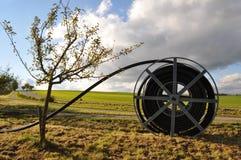 wiejski terenu dojazdowy szerokie pasmo obraz royalty free