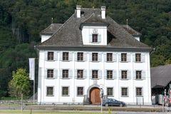 Wiejski widok piękny dom przy Grafenort Obrazy Royalty Free