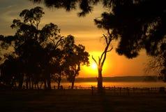 wiejski wschód słońca Obrazy Royalty Free