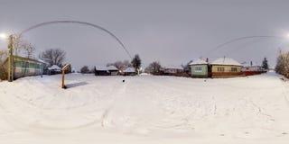 Wiejski zima krajobraz, Mikhaza, Rumunia Obrazy Royalty Free