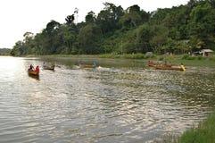 Wiejskich kobiet łódkowata rasa Zdjęcie Stock