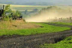 Wiejskiej drogi krzywa Zdjęcie Royalty Free