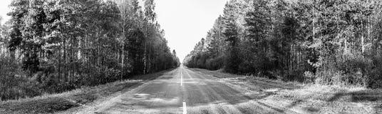 Wiejskiej drogi panorama Zdjęcie Stock