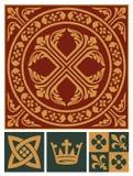 wieków środkowy ornamentu set Fotografia Royalty Free