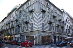 Wieków domy w historycznym centrum Turyn Zdjęcie Royalty Free