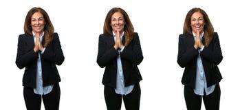 Wiek średni biznesowa kobieta z długie włosy zdjęcie royalty free