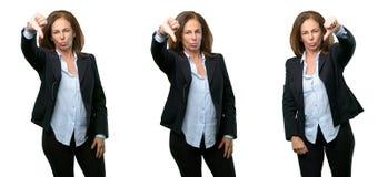 Wiek średni biznesowa kobieta z długie włosy zdjęcia royalty free