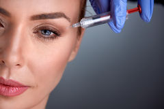 Wiek średni kobieta na odmładzanie terapii obraz stock