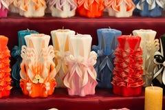 Wiek, paraffine of wasod diverse kleuren, decor royalty-vrije stock afbeeldingen