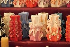 Wiek, paraffine of wasod diverse kleuren, decor stock afbeelding