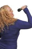 Wiek Średni kobiety piosenkarz Zdjęcie Stock