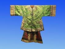 Wiek temu, Chińska jedwabnicza dworska suknia Zdjęcia Royalty Free