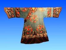 Wiek temu, Chińska jedwabnicza dworska suknia Obraz Royalty Free