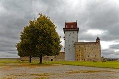 Wieka średniego Hermann kasztel w Narva, Estonia Fotografia Stock