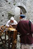 Wieki średni w Erba średniowiecznym rynku - okręg Villincino Niedziela, Maj 13, 2018 Zdjęcia Stock