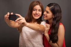 Wieki dojrzewania bierze selfie Obraz Royalty Free