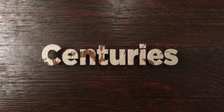 Wieki - grungy drewniany nagłówek na klonie - 3D odpłacający się królewskość bezpłatny akcyjny wizerunek ilustracji