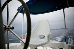 Wiel in catamaran Royalty-vrije Stock Afbeelding