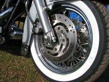 Wiel van een Amerikaanse motobike Stock Foto