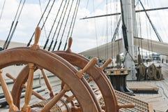 Wiel van groot varend schip Stock Afbeelding
