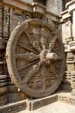 Wiel van Tempelblokkenwagen, Konark Royalty-vrije Stock Afbeelding