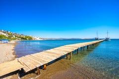 Wielbłąd plaża, Bodrum, Turcja zdjęcie stock