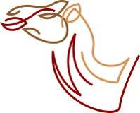Wielbłąda kierowniczy abstrakt royalty ilustracja
