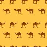 Wielbłądzi bezszwowy deseniowy tło Zdjęcie Royalty Free