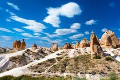 wielbłądzi cappadocia skały indyk Obrazy Royalty Free