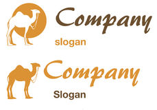 wielbłądzi logo Zdjęcia Royalty Free