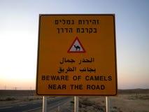 Wielbłądzi skrzyżowanie znaka Obraz Stock