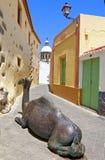 Wielbłądzia rzeźba wzdłuż ulic Aguimes Zdjęcie Royalty Free
