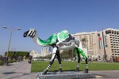 Wielbłądzia statua Dubaj zatoczką Fotografia Royalty Free