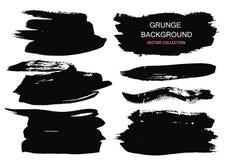 Wielcy grunge elementy ustawiający Muśnięć uderzenia, sztandary, granicy, bryzgają splatters również zwrócić corel ilustracji wek ilustracji