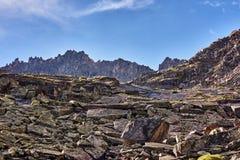 Wielcy kawałki granit w trakcie erozi Obrazy Royalty Free
