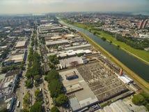 Wielcy miasta, wielkie aleje Miasto Sao Paulo, Narody Zjednoczone aleja, Vila Almeida sąsiedztwo, Brazylia zdjęcie stock