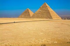 Wielcy ostrosłupy Giza, Kair, Egipt Obrazy Stock