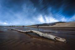 Wielcy piasek diun parka narodowego krajobrazu widoki Zdjęcie Royalty Free