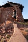 Wielcy piekarniki, kilns, używać leczyć gliniane cegły w Wietnam Zdjęcia Royalty Free