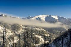 Wielcy szczyty Wysokie Tatrzańskie góry w zimy landsc Fotografia Royalty Free