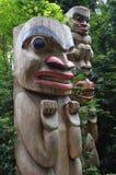 Wielcy totemu słupa cyzelowania Vancouver zdjęcie stock