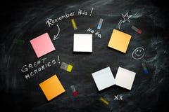 Wielcy wspominki na Blackboard Obrazy Stock